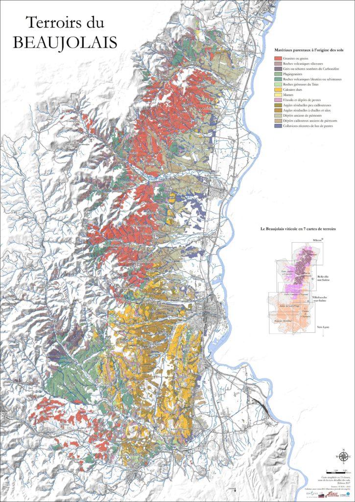 Carte Géologique du beaujolais