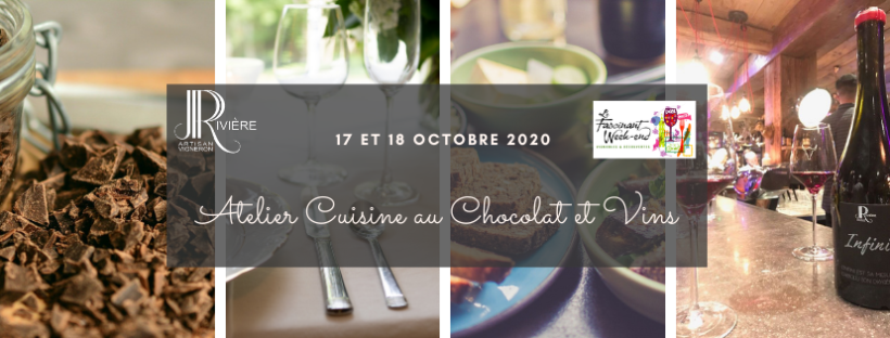 Fascinant Week-End 2020 : Atelier Cuisine au Chocolat & Vins