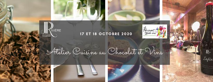 Fascinant Week-End 2020 : Atelier Cuisine au Chocolat & Vins