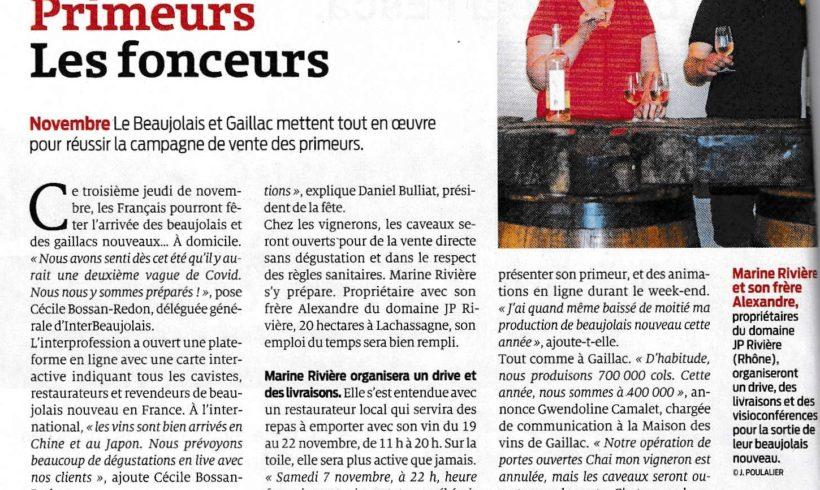 Mille mercis pour la réussite du Beaujolais Nouveau 2020