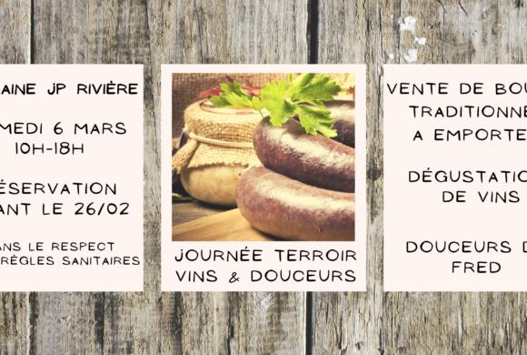 Evénement – Journée Terroir : Vins & Douceurs